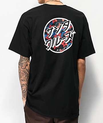 Santa Cruz Japanese Dot Black T-Shirt