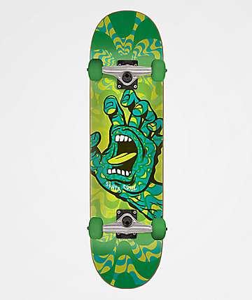 "Santa Cruz Kaleidohand 7.25"" Skateboard Complete"