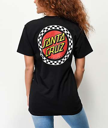 Santa Cruz Locked Stripe Black T-Shirt