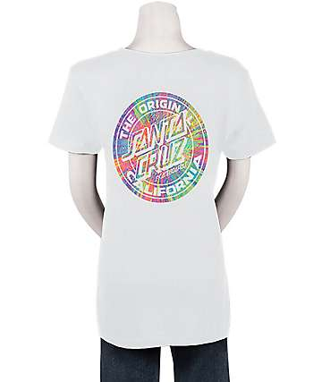 Santa Cruz MFG Prisma Dot White T-Shirt