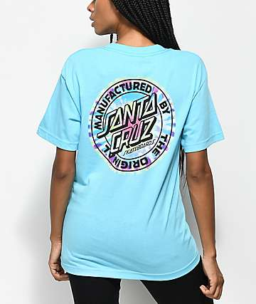 Santa Cruz Manufactured Tie Dye Dot camiseta azul