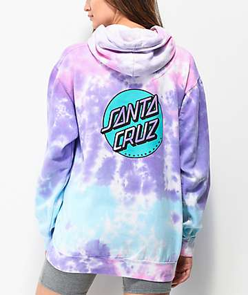 Santa Cruz Missing Dot Cotton Candy Tie Dye Hoodie