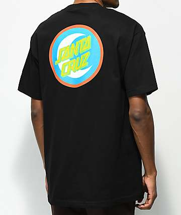 Santa Cruz Moon Dot Badge camiseta negra