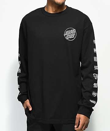 Santa Cruz Multi Cruz camiseta negra de manga larga