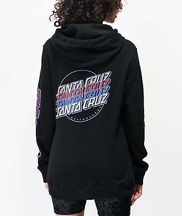 Santa Cruz Multi Strip Black Hoodie