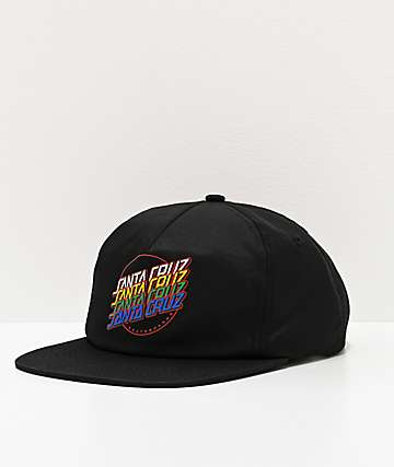 Santa Cruz Multi Strip Black Snapback Hat