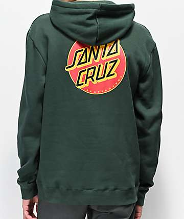 Santa Cruz Multiple Dot Forest Green Hoodie