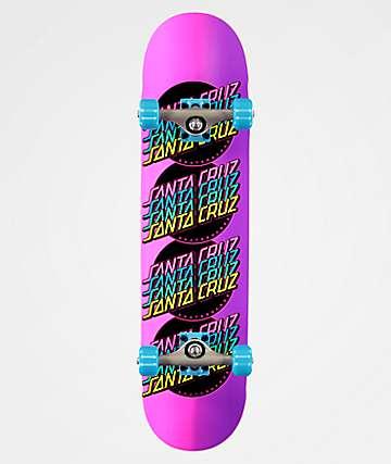 """Santa Cruz Multistrip 7.75"""" Skateboard Complete"""