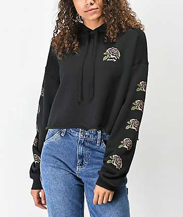 Santa Cruz New Victorian Black Crop Hoodie