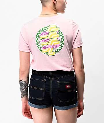 Santa Cruz OG Checkered Pink T-Shirt