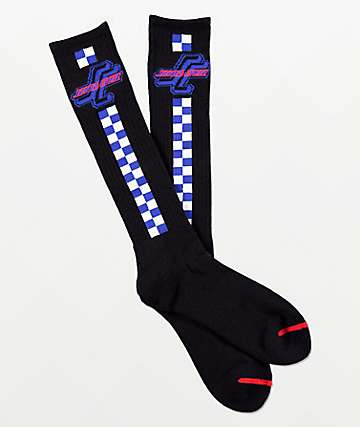 Santa Cruz OG SC Black Tall Crew Socks