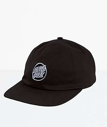 Santa Cruz Opus Dot Black Strapback Dad Hat