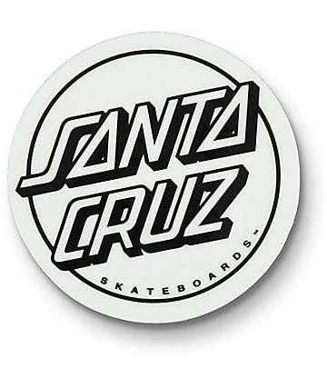 Santa Cruz Opus Dot Clear pegatina en blanco y negro