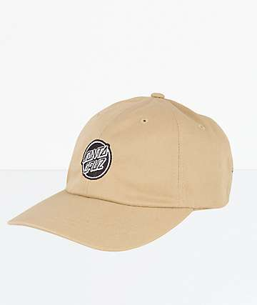 Santa Cruz Opus Dot Khaki Strapback Dad Hat