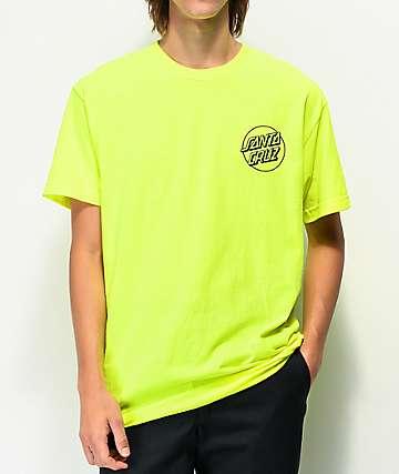 Santa Cruz Opus Dot Safety Green T-Shirt