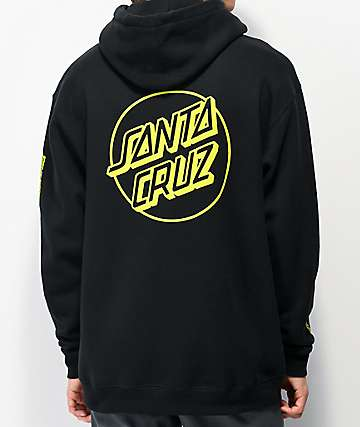 Santa Cruz Opus Dot Sleeves Black Hoodie
