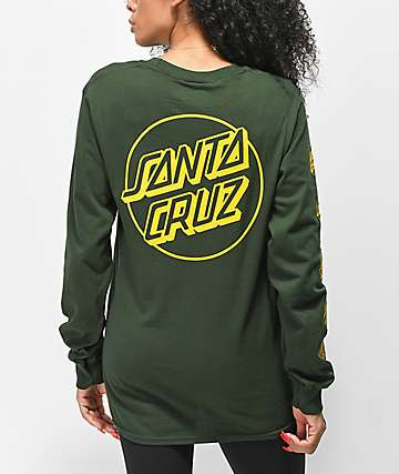 Santa Cruz Opus Repeat Forest Green Long Sleeve T-Shirt