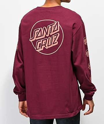 Santa Cruz Opus Repeat camiseta borgoña de manga larga