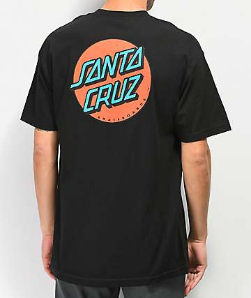 Santa Cruz Other Dot Black & Red T-Shirt
