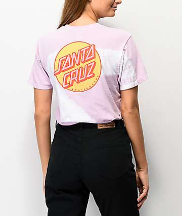 Santa Cruz Other Dot Lavender & White Tie Dye T-Shirt