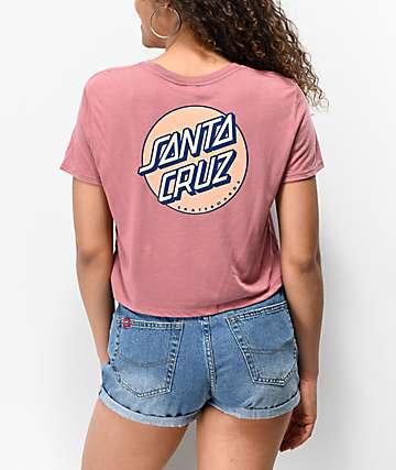 Santa Cruz Other Dot Mauve Crop T-Shirt