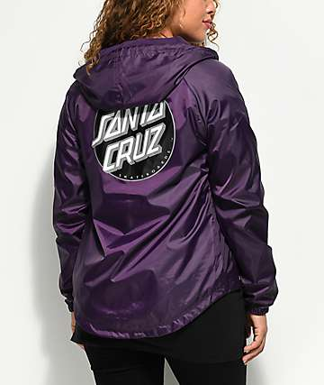 Santa Cruz Other Dot Purple Windbreaker Jacket