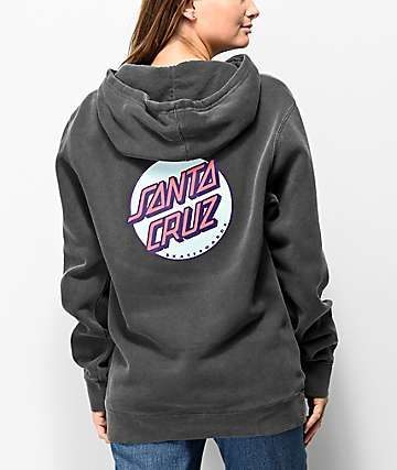Santa Cruz Other Dot Washed Black & Pink Hoodie