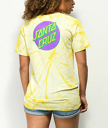 Santa Cruz Other Dot Yellow Spider Dye T-Shirt