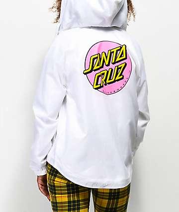 Santa Cruz Other Dot chaqueta cortavientos blanca