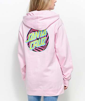 Santa Cruz Party Dot Pink Hoodie