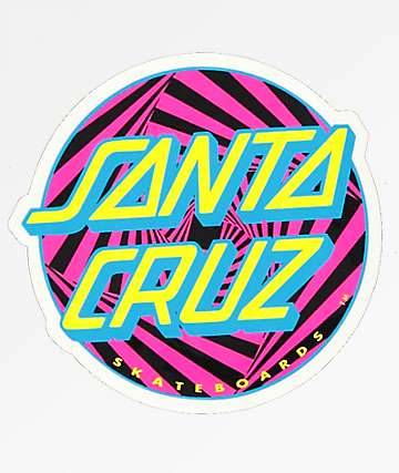 Santa Cruz Party Dot Sticker