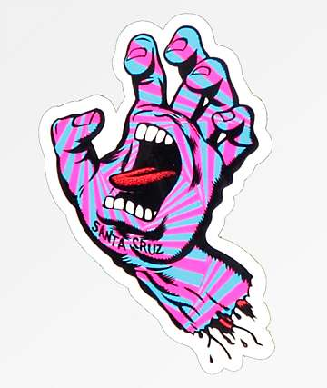 Santa Cruz Party Hand Sticker