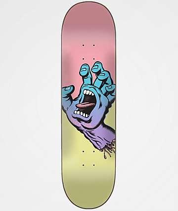 "Santa Cruz Pastel Screaming Hand 8.125"" Skateboard Deck"