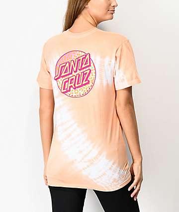 Santa Cruz Primal Dot Orange Tie Dye T-Shirt