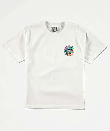 Santa Cruz Prowl Dot White T-Shirt