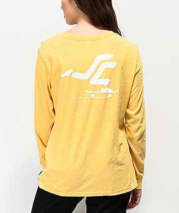 Santa Cruz Pusher Creamsicle Yellow Long Sleeve T-Shirt