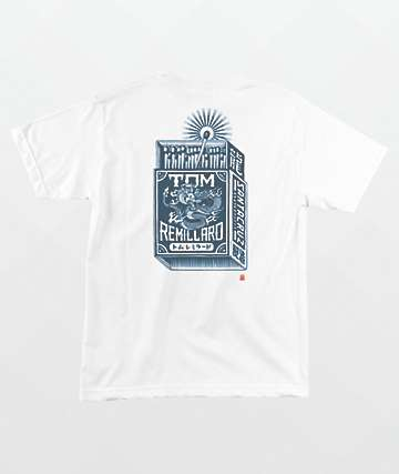 Santa Cruz Remillard Mako Matchbox White T-Shirt