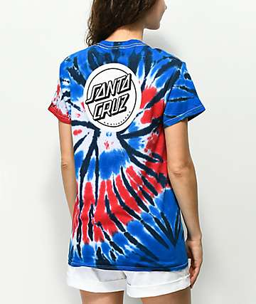 Santa Cruz Reverse Dot Red, White & Blue T-Shirt