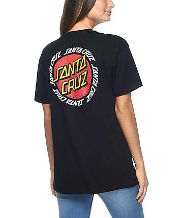 Santa Cruz Ringed Dot camiseta negra