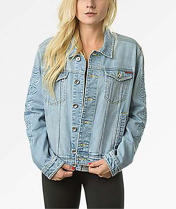Santa Cruz Rosa Washed Light Blue Denim Jacket