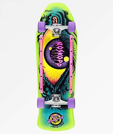 "Santa Cruz Roskopp Eye 10"" Cruiser Complete Skateboard"