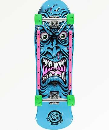 "Santa Cruz Roskopp Face 9.5"" cruiser completo de skate"