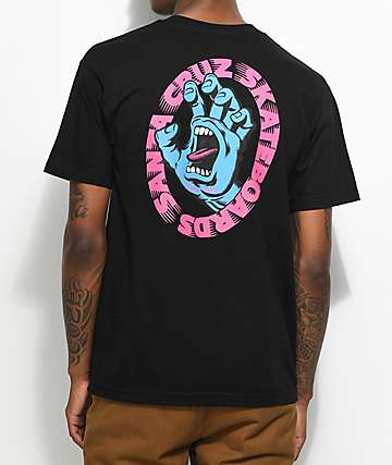 Santa Cruz Scream camiseta negra