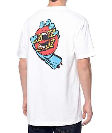 Santa Cruz Screaming Dot camiseta blanca