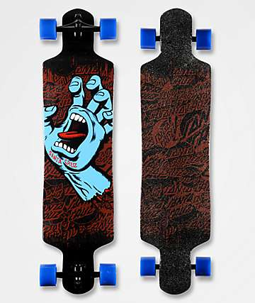 "Santa Cruz Screaming Hand 40"" longboard drop down completo"
