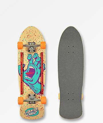"Santa Cruz Screaming Hand 9.42"" Cruiser Complete Skateboard"