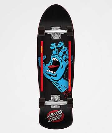 "Santa Cruz Screaming Hand 9.42"" Cruiser Complete Skateboard"