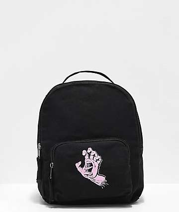 Santa Cruz Screaming Hand Black & Pink Mini Backpack
