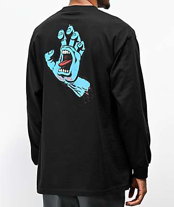 Santa Cruz Screaming Hand Black Long Sleeve T-Shirt