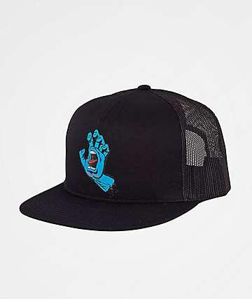 Santa Cruz Screaming Hand Black Trucker Hat